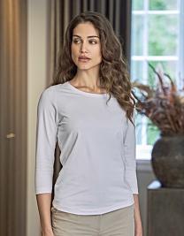 Ladies` Stretch 3/4 Sleeve Tee